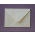 Briefumschlag creme 12,5 x 17,5 cm