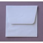 Quadratischer Briefumschlag weiß 15,5 x 15,5 cm