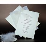 Einladungskarte mit Ornament 10849